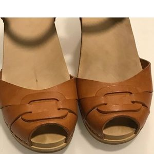 Swedish Hasbeens Tan Sandals Size 39